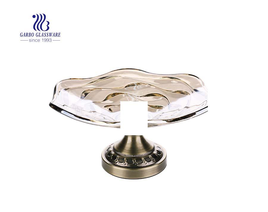 11.57 '' Big Size Ion Galvanisierte elegante Glasplatte zur Dekoration