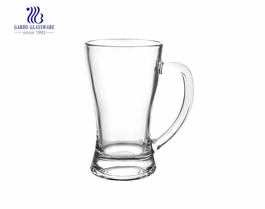 custom available clear pilsener glass beer mug with handle