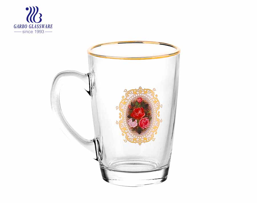 glass beer mug in handle glass cup for beer drinking