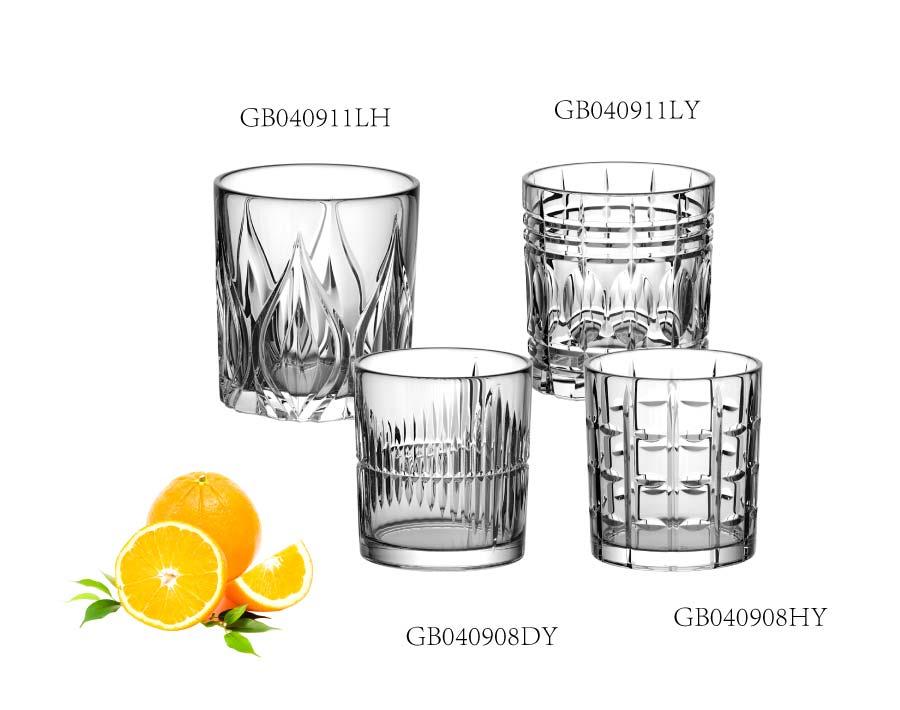 310ml vintage copos de vidro de uísque gravado de alta qualidade