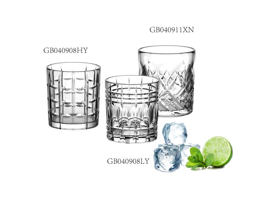 Old Fashioned Liquor Vodka Bourbon Cocktail Scotch Tumbler Bar Whiskey Glasses Set