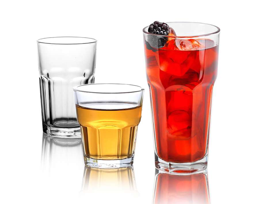 Old fashioned glass cup water juice rocks glass tumblers set