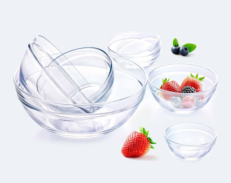Unique Design Gift Order Glass Salad Bowl For Home Use