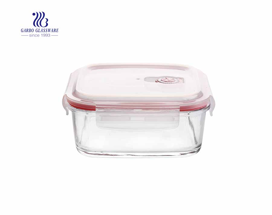 320cc Square home using tempered glass lunch box