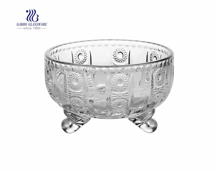 European transparent decoration glass candy jar storage tank
