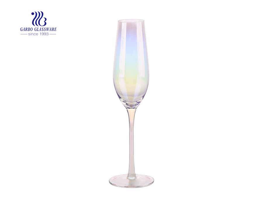 270ml Colorful Iridescent Electroplated Vintage Champagne Flutes