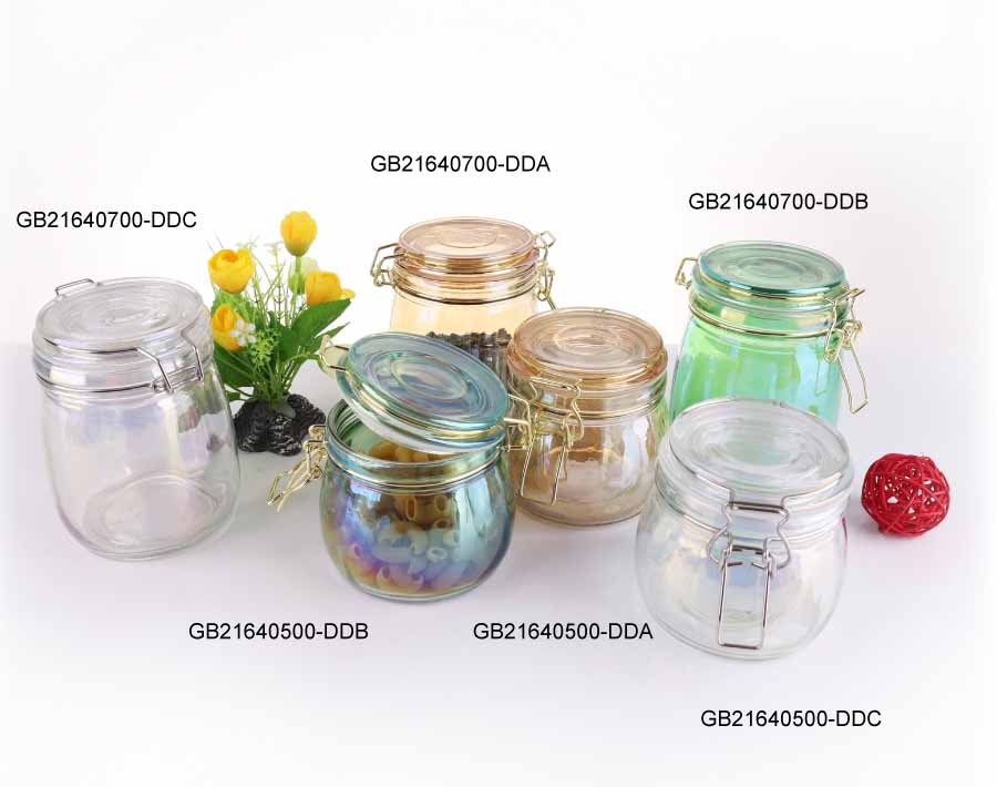700ml plating glass storage jars cheap glass storage jars