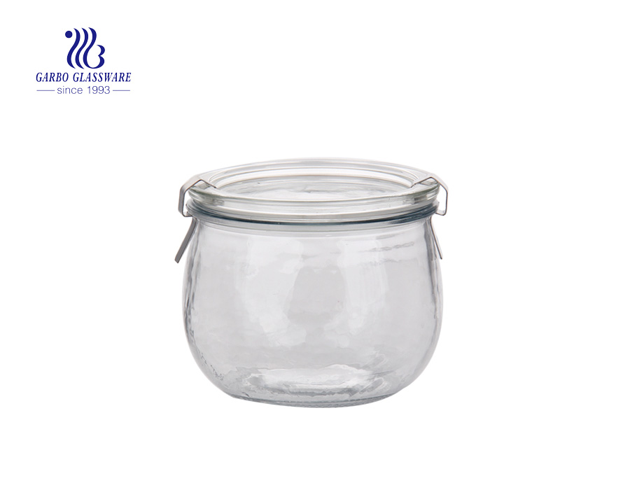 hot sale plating glass storage jars with high quality