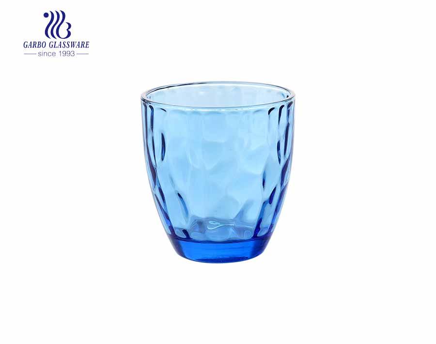 Vasos de agua de vidrio de 350 ml de color púrpura