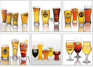 How does a beer glass affect the flavor of beer?