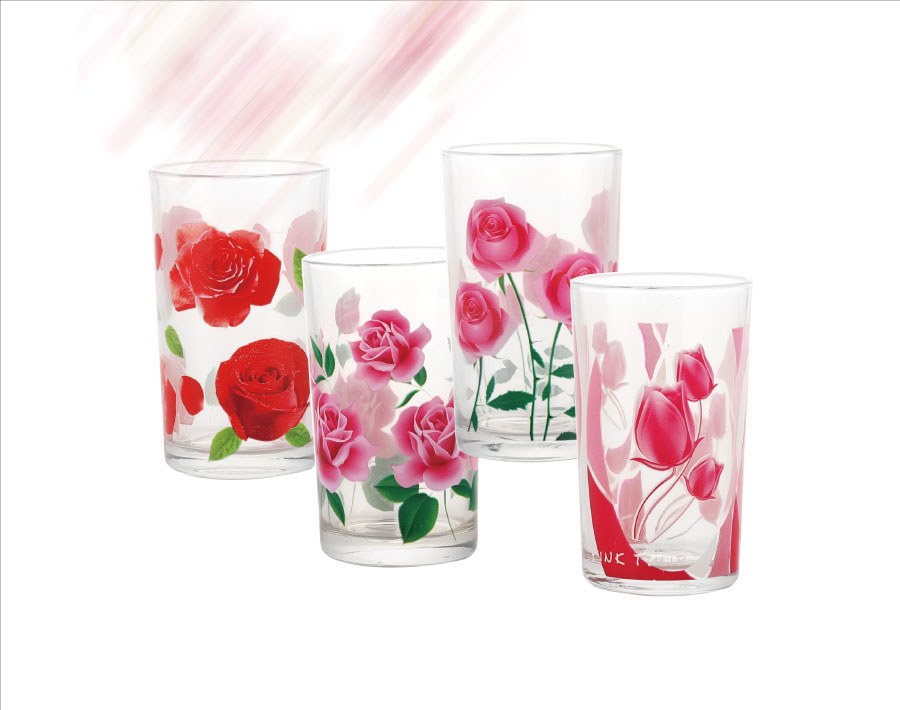 8oz cheap price machine screen printing glass tumbler