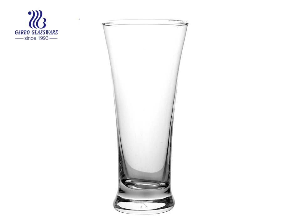 Clear crystal lead free Pilsner beer glass cup