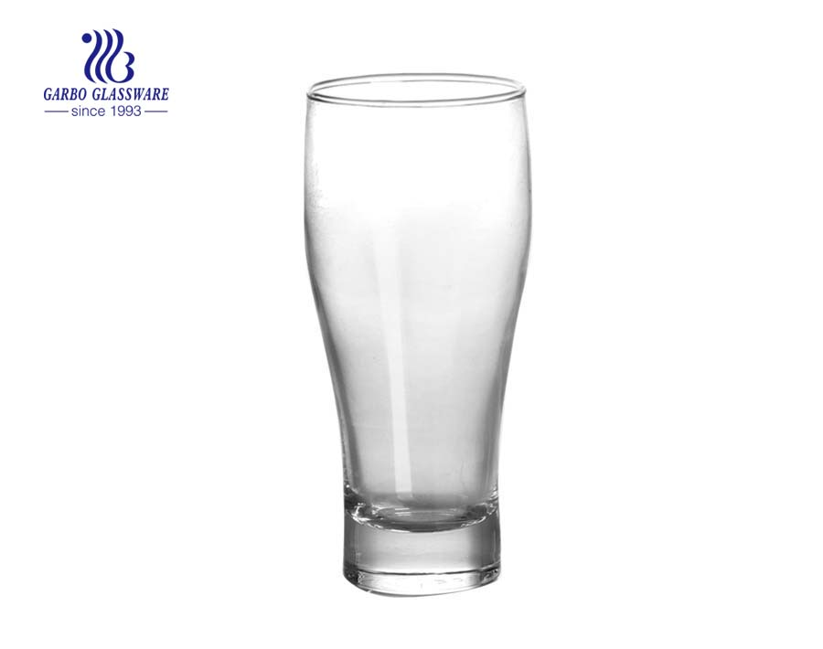 Cheap price machine made Pilsner beer glass with custom logo