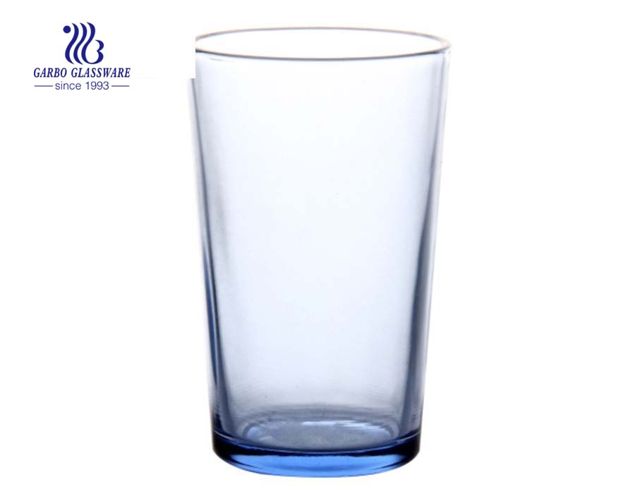 Luxury tinted color blue glass tumbler