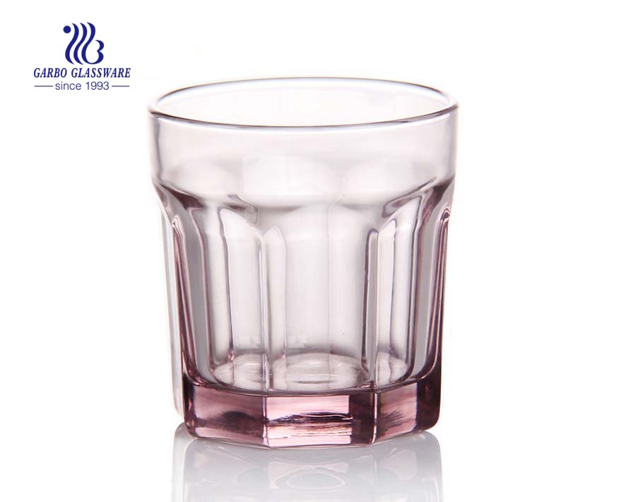 Luxury in stock tinted color pink glass tumbler