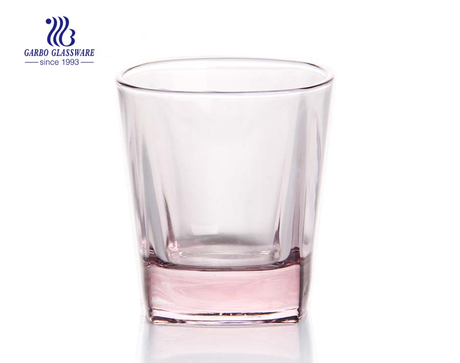 Em estoque logotipo personalizado permitido cor uísque vidro colorido