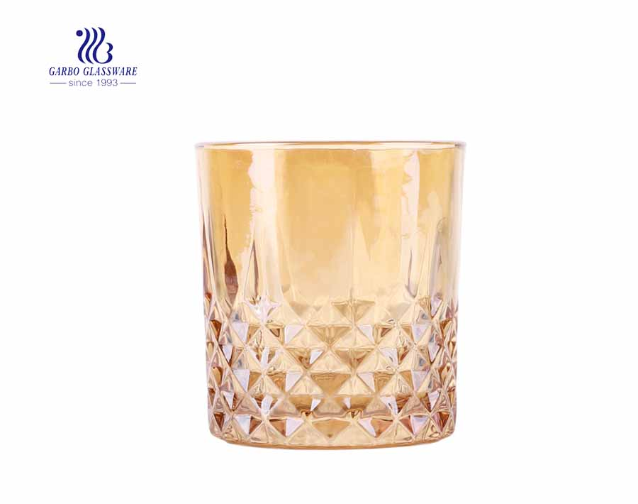 iron-plating golden drinking 330 ml  whisky glass juice tumblers