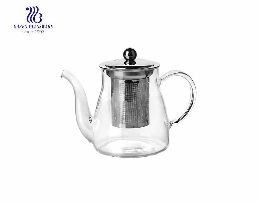 Glas Wasserkrug Glas Teekanne Glas Tee Kaffeekanne mit Edelstahlfilter
