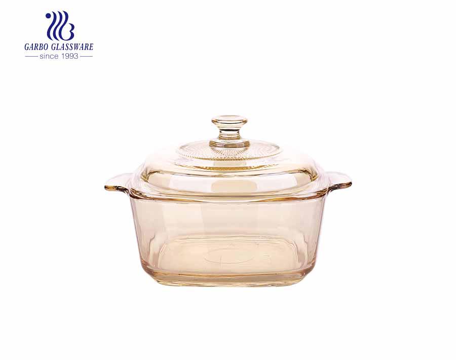 1540ML Cacerola de vidrio para hornear Cristalería templada