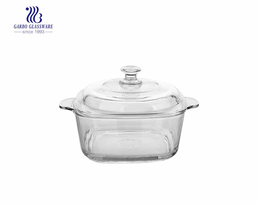 2500ml Tempered Glass Casserole Dish With Glass Lid