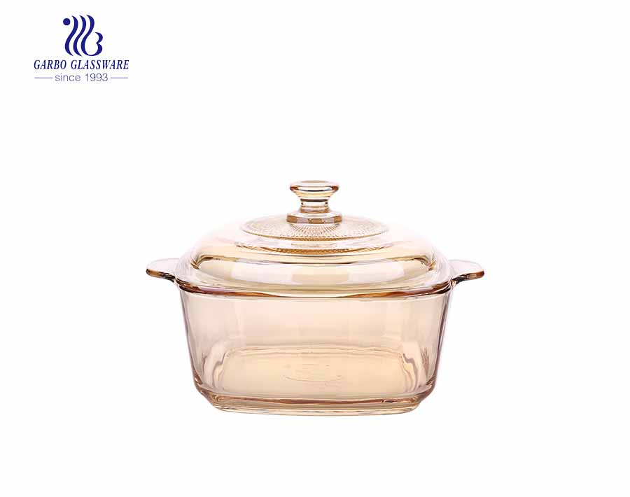 930ml Tempered Glass Casserole Dish With Glass Lid For Home And Restaurant