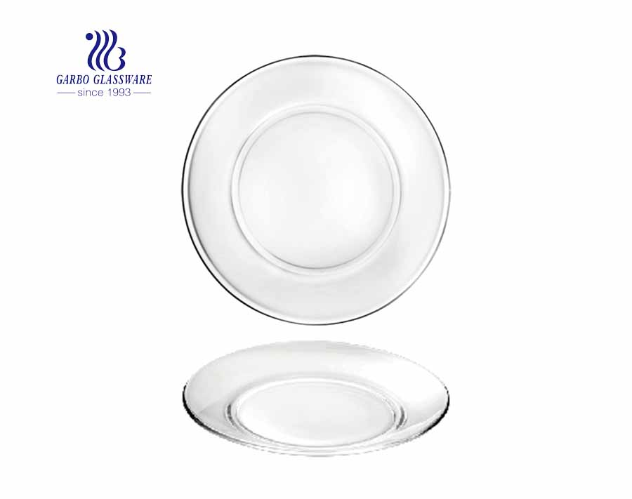7 inches Glass charger plate for home living room