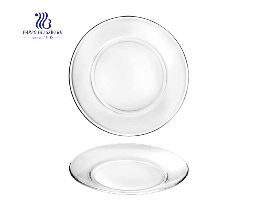 Đĩa ăn thủy tinh hình tròn hình tròn đơn giản 10.5 inch