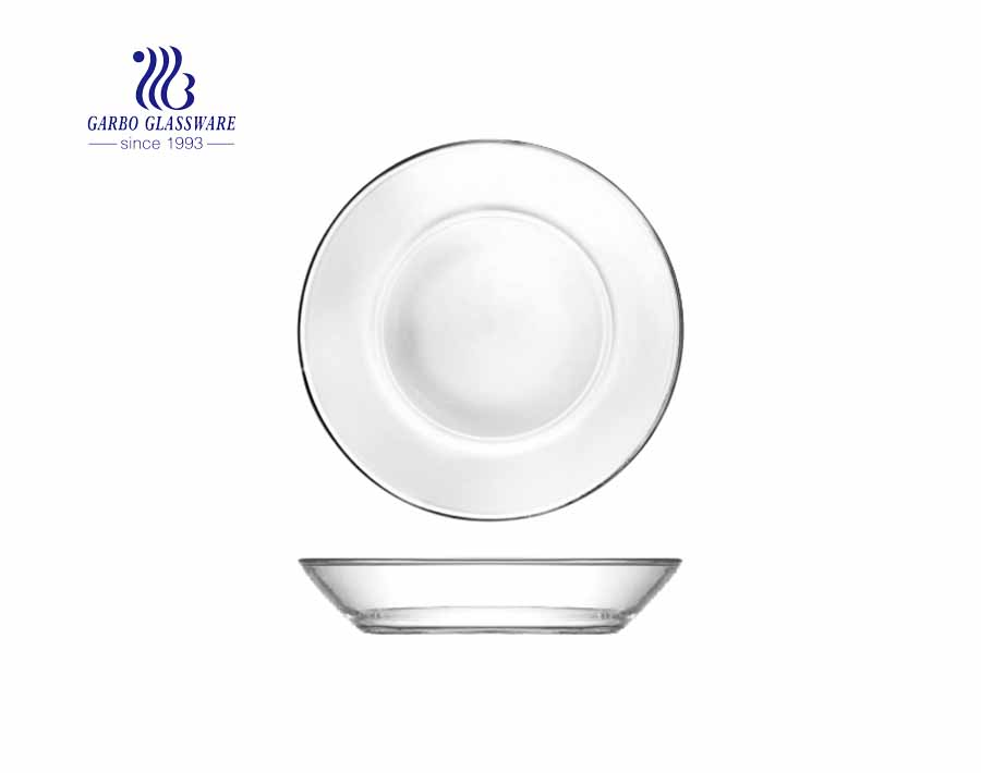 Simple Clear  Round Shaped  10.5 Inches glass dinner plates