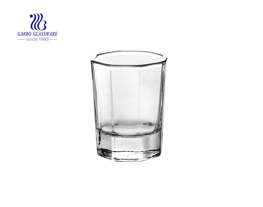 40 ml Custom shot glass cheap polygon vodka liquor glasses