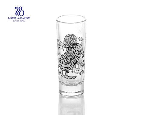 Vasos de licor de 40 ml personalizados de polígono barato vodka licor