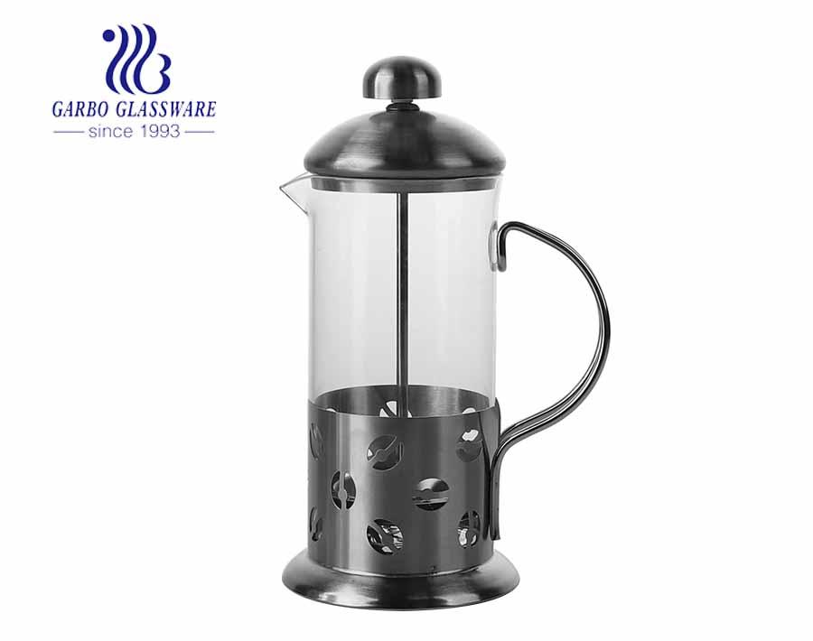 Precio de fábrica barato émbolo de café de vidrio al por mayor reutilizable prensa francesa olla cafetera de vidrio