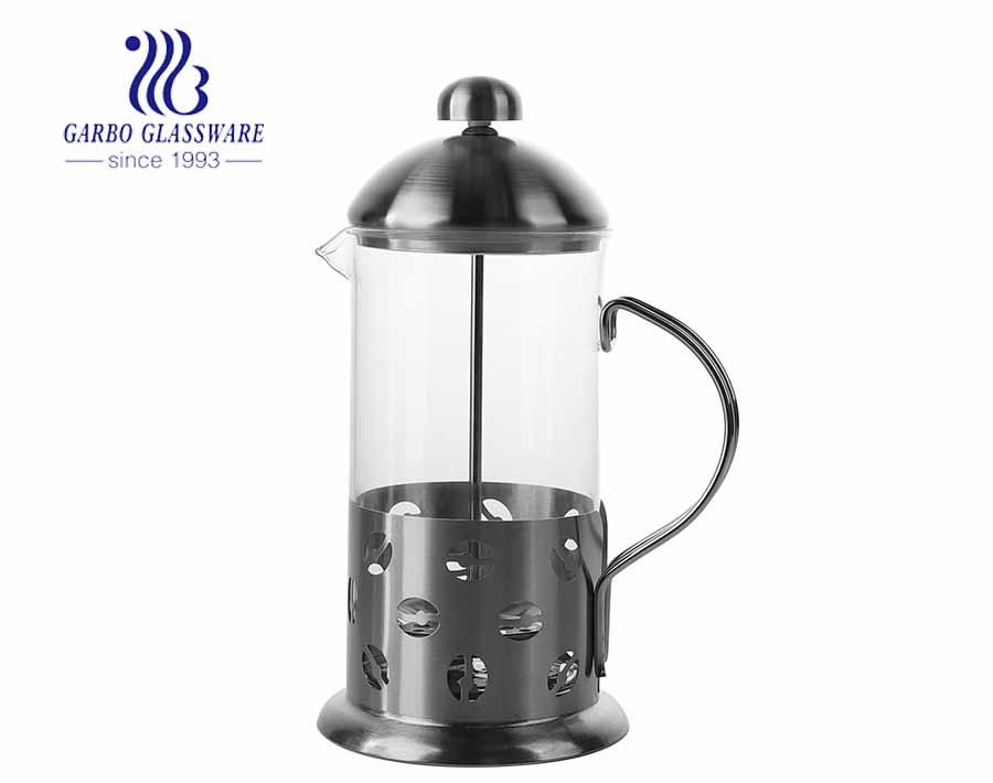 Máy pha cà phê bằng thủy tinh Borosilicate cao Bình ép kiểu Pháp