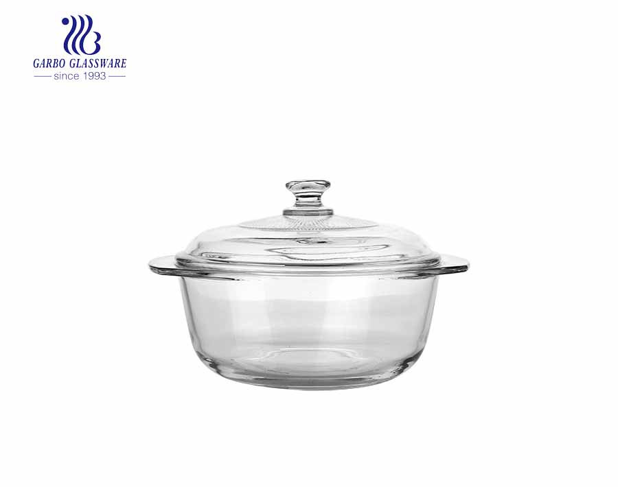 2400ml ion-electroplated glass baking casserole dish food container for mircowave using
