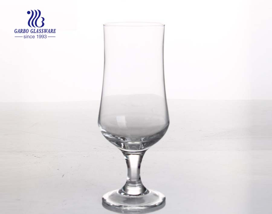 23oz wholesale clear hurricane glass for branded custom logo