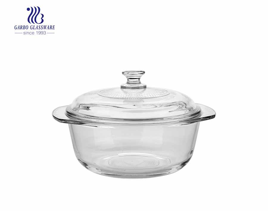 930 ml de vidro temperado caçarola prato de vidro recipiente de armazenamento de alimentos para utensílios de cozinha
