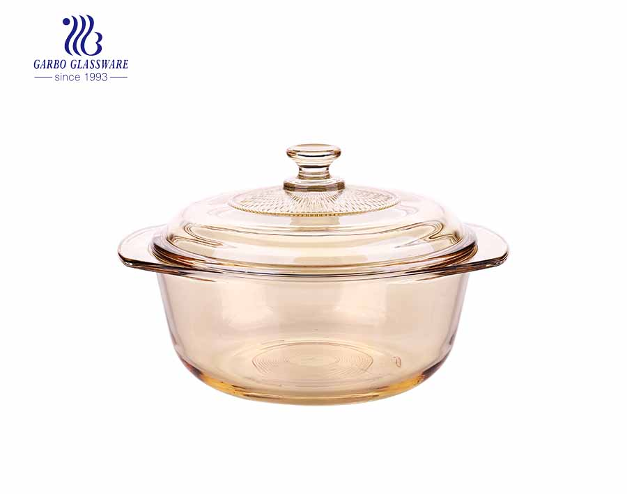 930ml Tempered Glass Casserole Dish Glass Food Storage Container For Kitchenware