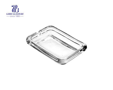 Amber glass ashtray cigarette holder for smokers