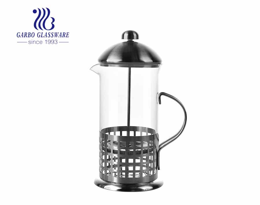 High borosilicate French filter press pot coffee making tool