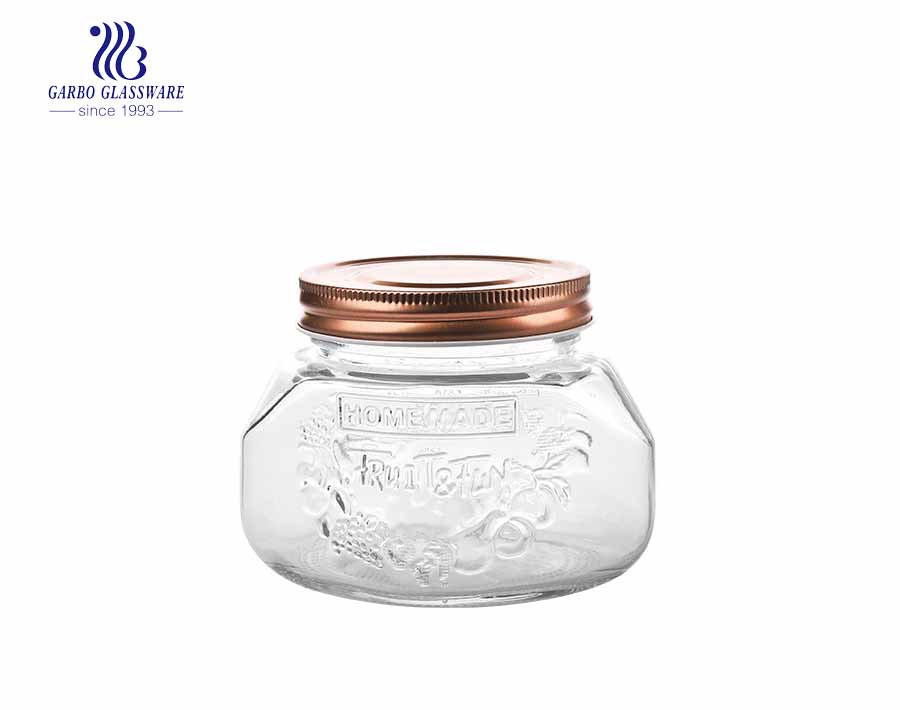 750ml Wholesale Glass Round Storage Jar for Home Use