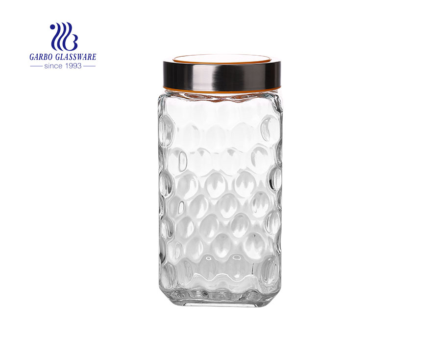 2000ml big high quality storage jars with good price new design glass candy jars