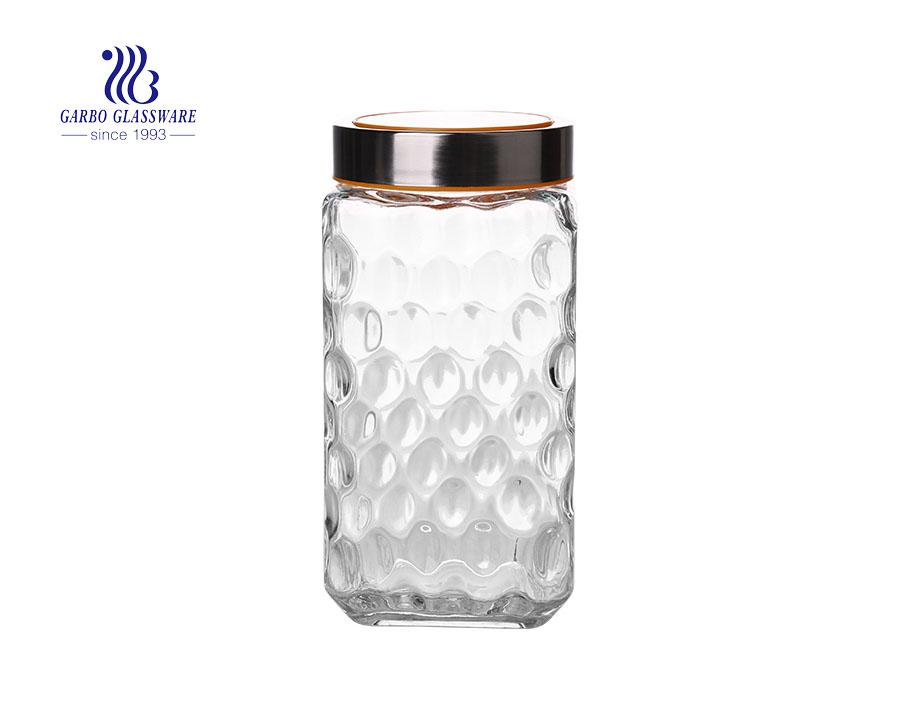 2000ml big high quality storage jars with good price new design glass candy jars