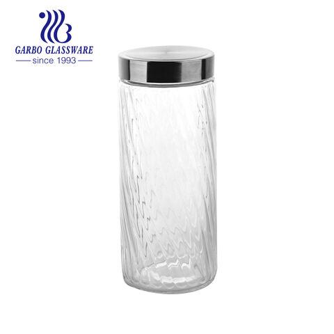 2000ml transparent food kitchen storage honey glass jar customize logo glass jar storage