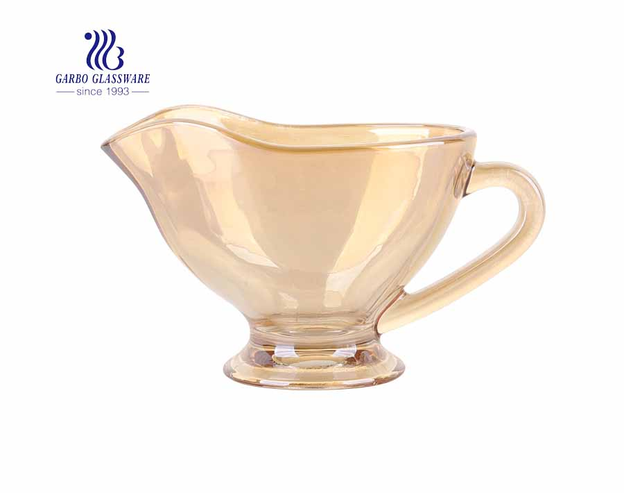 Ion Plating Mug Coffe High Glass Coffee Cup With Handle Classic Glass Mug