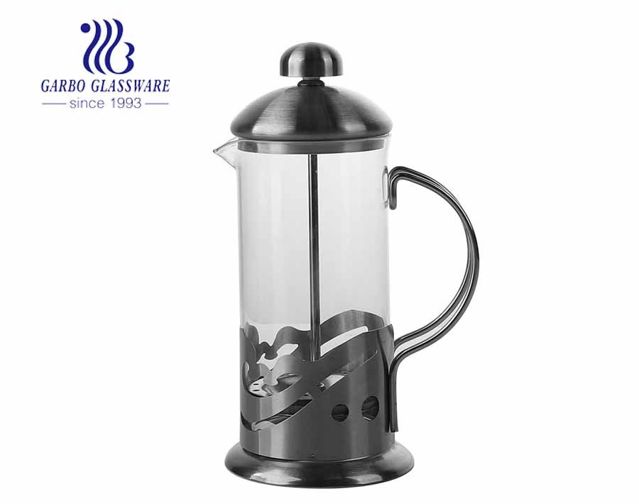 High borosilicate French Cafetiere Filter Coffee Pot French Press Pot with Dolphin Design