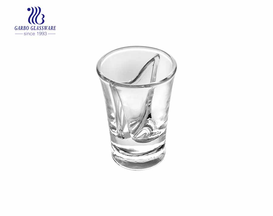 4oz Shot glass custom spray colored vodka liquor glasses