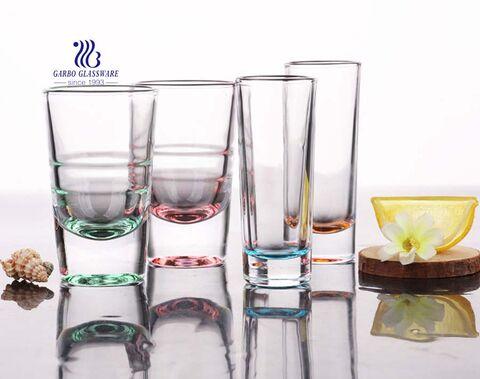 2oz Shot glass custom logo spray colored promotion mini glass cup