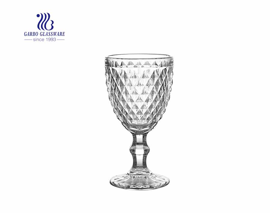 European baroque relief vintage wine glass 300ml