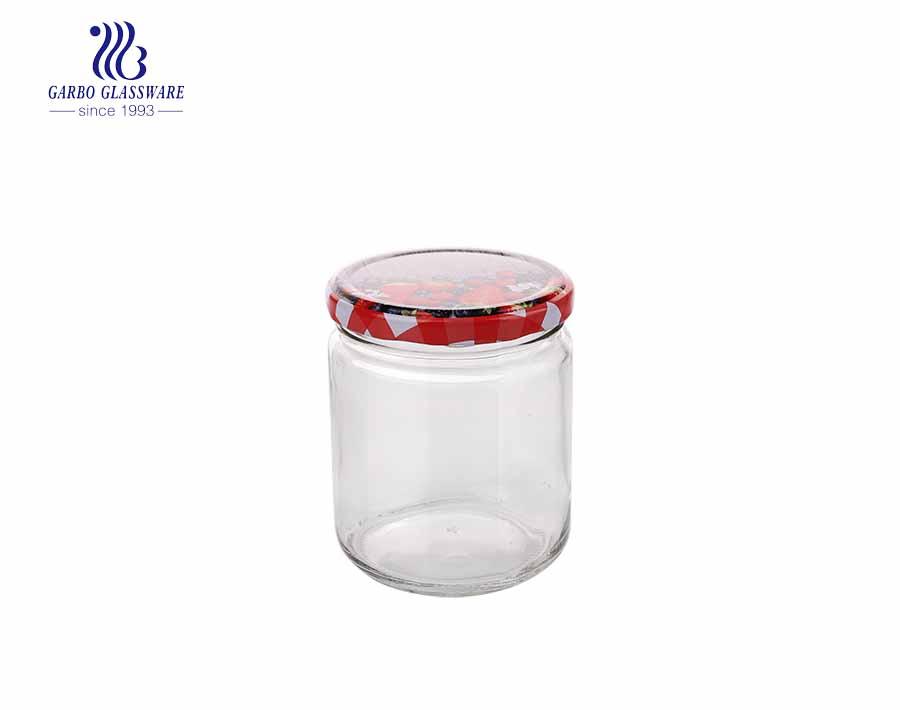 450ml Großhandel Glas Candy Jar mit Best Price OEM ODM Verfügbare Glas Vorratsglas