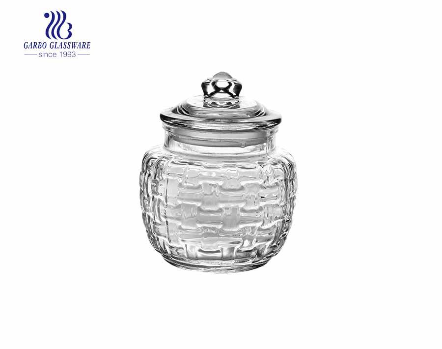 480ml Candy Food Airtight Glass Storage Jar Hot Sale Nuts Jar Fashion Food Can