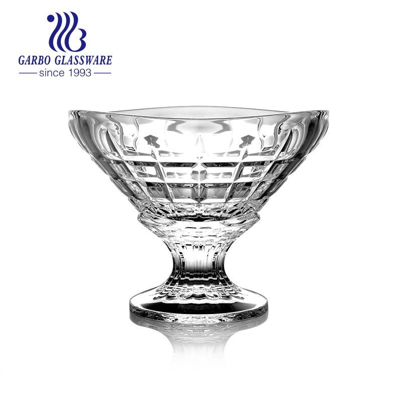 Premium Crystal Clear Glass Eisbecher Footed Dessert Cups
